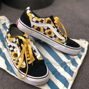 79731fe95e1 Vans Shoes - VERY RARE Checkered sunflower old skool vans
